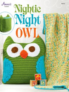 Nightie Night Owl amigurumi that holds a blanket!