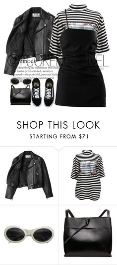 """B.E.D"" by fuckedchanel ❤ liked on Polyvore featuring Acne Studios, M.Y.O.B., Gucci and Vans"