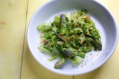Asparagus 'Pasta' With Garlicky Bread Crumbs