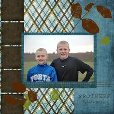 Stacey's Stamping Stage: Brothers. Simple one-photo scrapbooking layout
