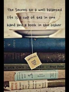 """Do I pin this under """"tea"""" or """"books""""? :)"""