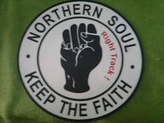 NORTHERN SOUL KEEP THE FAITH   Turntable Mat.    Right Track!
