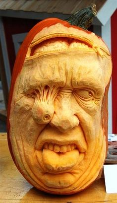 Image detail for -Facce Spaventose, Fruit Carving con zucca : NewsBartenders.it