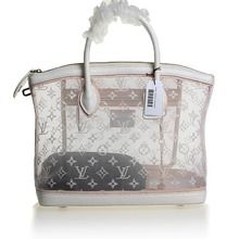 1c478359cd Louis Vuitton Monogram Transparence Gauze Lockit Tote Bag