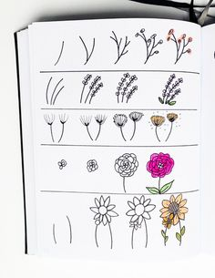 Flower Doodles Discover Spring Bullet Journal Doodles To Easily Copy In Your Bujo! Sidereal Life 40 Spring Bullet Journal Doodles that are perfect for decorating your planner! Get creative with these easy to copy doodles & start planning your spring! Bullet Journal Notebook, Bullet Journal Inspo, Bullet Journal Layout, Bullet Journal Ideas Pages, Bullet Journal September, Bullet Journal Decoration, Bullet Journal For Beginners, Bullet Journal Lettering Ideas, Bullet Journal Aesthetic