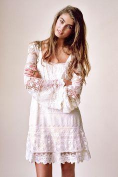 051c0c8e0a15 Imagen relacionada White Hippie Dress