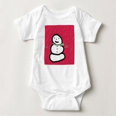 Christmas Winter Snowman Baby Bodysuit - Xmas ChristmasEve Christmas Eve Christmas merry xmas family kids gifts holidays Santa
