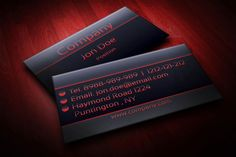 142 best business cards mockup images on pinterest mockup modern black and red business card template suitable for any kind of business this design fbccfo Gallery