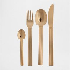 Pin for Later: 12 Things You Need From Zara Home's Half-Off Sale, Stat!  Gold flatware ($4-$5, originally $8-$10)