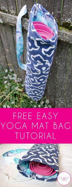 Free Easy Yoga Mat Bag Tutorial Lets Sew<br> Crochet Bag Tutorials, Sewing Tutorials, Sewing Patterns, Diy Crochet, Crochet Pattern, Crochet Summer, Sewing Diy, Clothes Patterns, Diy Love