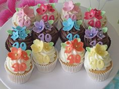 40th Birthday Cupcakes - Beach House Bakery, cakes and cupcakes in Bristol and the West Country