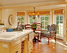 Traditional Kitchen Window Treatments Design, Pictures, Remodel, Decor and Ideas - page 5
