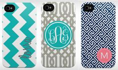 Monogrammed iPhone cover??? Yes, please. Thanks to my friend Christina Six, I got this as a b-day gift! LOVE!