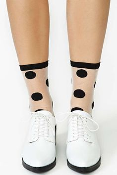 Hansel from Basel Clear Polka Dot Ankle Socks