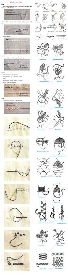 Stitching - embroidery ideas