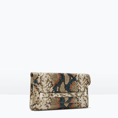 EMBOSSED CLUTCH-Bags-Woman-SHOES & BAGS | ZARA  United States  I really hope they restock this!!