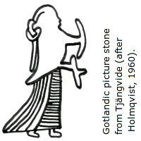 Female figure from a Gotlandic picture stone.