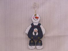 Handmade Hand Painted Wooden Snowman with Baby by humblehrtdesigns, $6.00