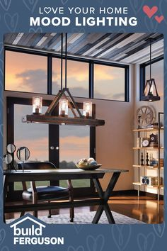 Welcoming, cheerful, mysterious, relaxing… the right lighting can set the mood. Discover designs that match your style. Anniversary Cakes, Mediterranean Design, Streetwear Men, Love Your Home, Dining Room Lighting, Ceiling Fans, Long Sweaters, Hallways, Office Ideas