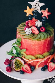 Watermelon Cakes Are Summer's Most Refreshing Trend #purewow #summer #recipe #trends #paleo #dessert #fruit #food #cake #news #watermeloncakes #watermelon #summerfoods #summerdesserts #healthydesserts #fruit #summerpartyideas