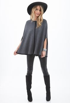 Ribbed Knit Cape | FOREVER21