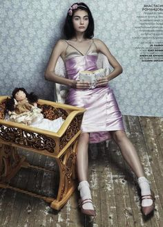 Danil Golovkin Lenses Antonina Vasylchenko for Vogue Russia's December 2012 'ToyStory' - 8 Style | Sensuality Living - Anne of Carversville Women's News