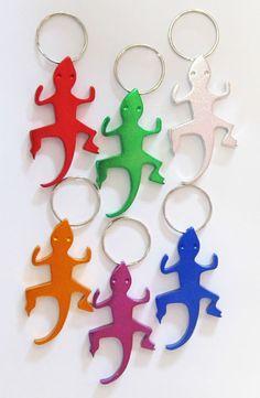 Aluminium Salamander Gecko Lizard Bootle Opener Keyring 1 unit