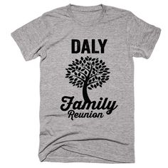 DALY Family Name Reunion Gathering Surname T-Shirt