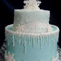 snowflake icicle cake - Google Search