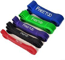 Freetoo® Best Workout Rubber Band Resistance Bands Powerlifting Bands Pull-Up Band Resistance Exercise Bands