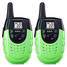 LUITON Mini Durable Walkie Talkie Toy Gift for kids Long Distance Two-Way Ham Radio with Rechargable Lithium Battery Interphone for Outdoor Activities (Green)(Pair) Kids Electronics, Kids Class, Two Way Radio, Ham Radio, Cool Things To Buy, Stuff To Buy, Walkie Talkie, Kids House, Long Distance