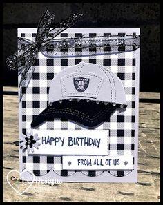 Masculine Birthday Cards, Masculine Cards, Niece Birthday, Happy Birthday, Wink Of Stella, Stamping Up Cards, Tgif, Raiders, Cardmaking