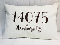 Excited to share this item from my shop: Personalized Pillows, Handmade Pillows, Decorative Pillows, Magnolia Sky, Advertising And Promotion, Sun Hats For Women, Cricut Creations, Zip Code, Bed Pillows