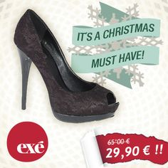 Llega la #Navidad a Exé Shoes con grandes DESCUENTOS para tus compras navideñas. ¡Compártelo con tus amigas!
