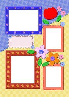 Scrapbook Frames, Scrapbook Borders, Scrapbook Paper, Picture Frame Layout, Picture Frames, Free Background Photos, Molduras Vintage, Boarders And Frames, Instagram Emoji