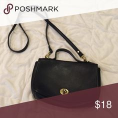 Leather Coach-like bag Black leather bag that looks just like coach. Nice leather with cross body strap. Hunt Club Bags Crossbody Bags