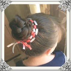 """Weaved Ribbon with a Braided Bun!…"""
