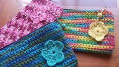 Cartucheras tejidas a crochet - Crochet - Tejidos de Punto - 73198