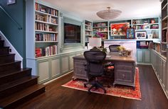 traditional home office for him and her