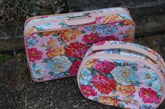 Girl's Flowered Luggage ~ Two Piece Set ~ Peonies, Roses, Lillies - http://oleantravel.com/girls-flowered-luggage-two-piece-set-peonies-roses-lillies