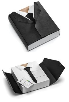 Why not use the folds in your packaging to create something a little special like Biz Kit?