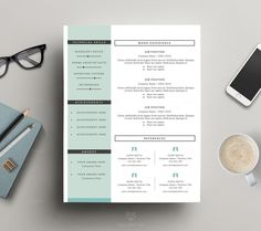 Resume Template 3 Pages, CV Template By This Paper Fox On Creative Market