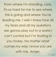 My Prayer in Hard Times