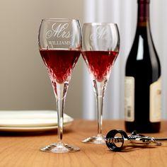 Galway Irish Crystal Longford Wine Glass (Set of 2) | Personal Creations