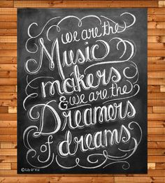 """Willy Wonka Quote Chalkboard Art Print 