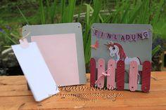 ~Kreativ mit Stempel & Papier~: ~Auftragsarbeit für eine Geburtstagseinladungskarte 'Einhorn'~
