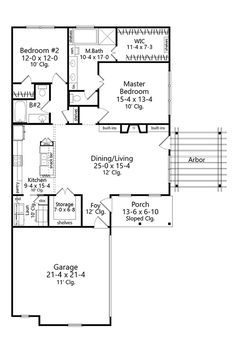 Floor Plan image of Featured House Plan: BHG - 9631