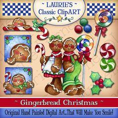 Arte Digital de la Navidad del pan de por lauriefurnelldesigns