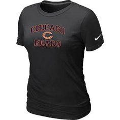 Women's Nike Chicago Bears Heart & Soul NFL T-Shirt Black