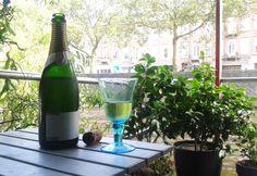 tasting my very first, undressed Kreinbacher sample in Amsterdam